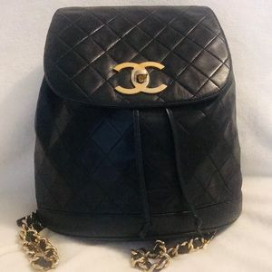 CHANEL Jumbo Quilted Flap Bag Classic Backpack
